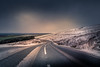 Snow Road (garethleethomas) Tags: road transport mountains snow weather winter outdoor uk wales canon freeway