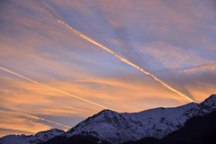 rosso di sera ( explore del 1-2-2017 ) (freguggin2010) Tags: nikon tramonto sole nuvole
