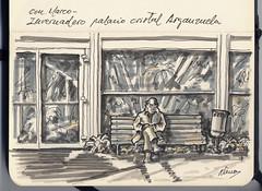 Reposo en el invernadero de Arganzuela (f.gómezcorisco) Tags: dibujo apunte sketch librito rotulador madrid