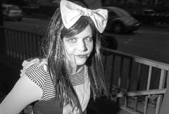 Alice (Shot In The Street) Tags: streetphotography hp5 ilfordhp5 street bw 2016 film zombie canoneos3 analogue candid mono monochrome bristol filmisnotdead blackandwhite black ilford bristolzombiewalk2016 white