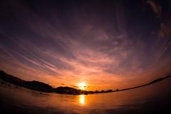 Tateyama city / Canon EOS60D:Tokina AT-X 107 Fisheye 10-17mm F3.5-4.5 (telenity) Tags: japan tateyama landscape sunsets tokina ocean eos60d 日本 館山 風景 夕暮れ 夕焼け 海
