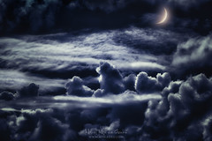 Dreaming (Mimadeo) Tags: cloudscape dreamy dream dreams night moon fantasy heaven cloud scape sky altitude cloudy dreamscape clouds cumulus high cumulonimbus flight freedom dark blue atmosphere beautiful background skyline stratosphere space air magic idyllic moonlight magical above aerial