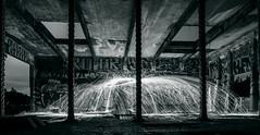 Abandoned Steel (Brendinni) Tags: washingtonstate building steel beams cement graffiti night nightphotography weownthenightsea walls windows entrance longexposure