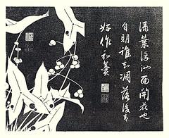 Chinese arrowhead (Japanese Flower and Bird Art) Tags: flower chinese arrowhead sagittaria trifolia alismataceae jakuchu ito ukiyo woodblock picture book japan japanese art readercollection