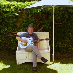 Recycled Furniture - Bed to Bench (Frizztext) Tags: garden bench guitar furniture dobro ist guitarist frizztext