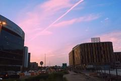 Bleh. (Melissa Kumaresan) Tags: road city travel sunset sky cars architecture clouds evening dubai outdoor dusk iphone massivedork tumblr vsco iphone5s vscocam
