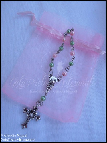 "Conjunto de batizado ""Pinky Little Angel"""