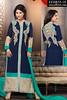 Akshara Blue Green Georgette Palazzo Suit