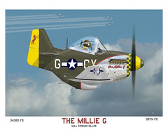 The Millie G, 343rd FS, 55th FG (blackheartart) Tags: art airplane fighter aircraft aviation wwii caricature mustang northamerican usaaf 8thaf 55tghfg 343rdfs