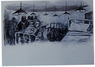 Kentridge, William, 'Drawing from tide table' –hostel-, 2004