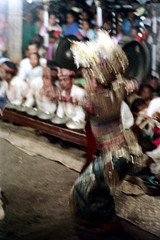 26-408 (ndpa / s. lundeen, archivist) Tags: flowers people bali color film girl musicians kids 35mm children indonesia dance costume clothing blurry child dancing audience 26 stage traditional nick performance culture dancer outoffocus southpacific 1970s spectators 1972 youngwoman indonesian gamelan headdress onlookers balinese dewolf oceania pacificislands nickdewolf photographbynickdewolf metallophones pacificislandculture reel26