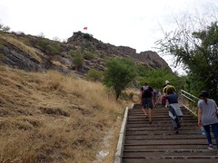 """Walking up to Sulaiman-Too rock • <a style=""""font-size:0.8em;"""" href=""""http://www.flickr.com/photos/41849531@N04/20265424609/"""" target=""""_blank"""">View on Flickr</a>"""