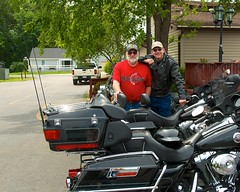 Peter and I and the Harleys (imageClear) Tags: wisconsin nikon flickr bikes riding harleydavidson photostream bikers 18200mm crivitz d7000 imageclear