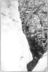 One foot on the rock, the other on ice 1977 (Fogle Images) Tags: stevegropp portrait alpineclimbing johanessburgtomagicmnt northcascades wa