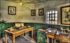 The Office Time Forgot (Darwinsgift) Tags: bclm black country living museum dudley birmingham hdr photomatix nikon d810 office antique olden times vintage working voigtlander 20mm f35 color skopar slii