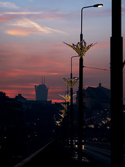 january evening (Darek Drapala) Tags: january evening sun sunset color city cityscape civilization urban europe warsaw warszawa sky skyskape panasonic poland polska panasonicg5