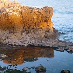 Rock at Sunset (Mafalda2001) Tags: paçodearcos riverside beaches sunsets