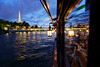 Cruising in the City of Light (Adrien Marc) Tags: paris toureiffel seine laseine bluehour bâteaulecalife lecalife eiffeltower