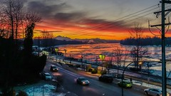 Here's a couple from the sunrise on Friday 13th. (rog45) Tags: canada bc rog45 canon 7dii 2470 mapleridge porthaney sunrise fraserriver ice