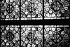 Kirchenfenster (analog) (*Darenae) Tags: analog grau schwarz weis black white bw sw bnw olympus retro köln cologne deutschland germany kirchenfenster window church muster trip 35
