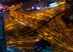 Interchange at Dubai, UAE: Sheikh Zaed Road & Al Safa Street/Financial Center Road (H31157r0M) Tags: interchange uae оаэ развязка road дорога мост bridge dubai дубай burjkhalifa night ночь canon 60d nightscape highway шоссе urban architecture