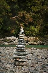 95/116 Balance (PalmyLisa) Tags: 116in2016 116 balance stones schist rocks stack blueriver haast southisland newzealand