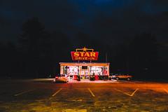star diner (lauren zaknoun) Tags: night nightphotography nightsky light lightpainting lightstreaks lightphotography lights neonlight diner urban abandonedplaces dark darkphotography newengland massachusetts parkinglot