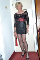 DSC_0001c (magda-liebe) Tags: french crossdresser travesti corset cuir mini highheels fouet handcuff fullyfashionedstockings
