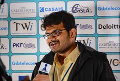 M R Lalith Babu press interview (Johnchess) Tags: 29january2017 round6 tradewisegibraltarmasters