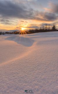 Dunes d'hiver sous les derniers rayons de la journee!
