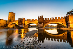Verona (atropo8) Tags: verona veneto italy pontescaligero castelvecchio bluehour river fiume adige nikon d810 longexposure water reflections