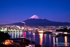 Mt.Fuji night scene. (kota-G) Tags: nikon fuji 富士山 mtfuji night scene 夜景 japan landscape nightview scenery industrial area factory