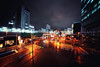 Day 362/366 : JR Akihabara Station (#28/29) (hidesax) Tags: 362366 jrakihabarastation 2829 akihabara night nightscape rainy day wet street reflections station jr clouds buildings chiyodaku tokyo japan hidesax sony a7ii voigtlander 10mm f56 366project2016 366project 365project