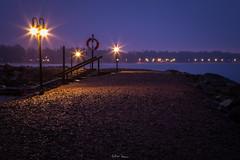 NIght Lamps v. 2 (mathiasboman) Tags: landscapeimages canon6d landscape pier sweden outdoor canon shore longexposure nightphotography vättern östergötland motala seascape shoreline nordic waterscape night