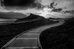 Walkway (Kari Siren) Tags: atlantic road norway blackandwhite bridge path walkway
