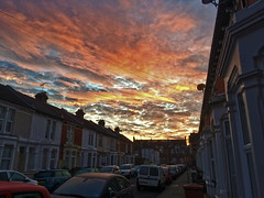 Time for a Sunrise Shot! (Jainbow) Tags: sunrise sun sky clouds morning terraced street road portsmouth southsea jainbow