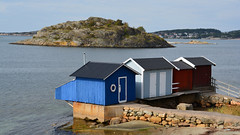 Beach cabins near Hovås (andantheandanthe) Tags: cabinet house bath swim sea beach cabins architecture hovås gothemburg göteborg
