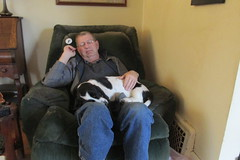 A Man & His Dog (frank kendrick) Tags: basset
