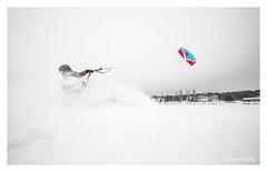 150117 (Tomi Tähti) Tags: kiteboardin kitesurfing leijalautailu leijasurffaus leija snowkiting suomi finland talvi winter snow ice lake