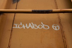 ICHABOD (TheGraffitiHunters) Tags: graffiti graff streak moniker markal stick paint street art freight train tracks benching benched ichabod ich circle t boxcar rust