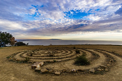 Rock Labyrinth ((Jessica)) Tags: rockspiral rocklabyrinth rocks spiral labyrinth ocean view cliff clifftop clouds sky vista wideangle california topanga malibu rokinon12mm sonya6000