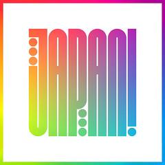 Japan! (Kyle J. Letendre) Tags: japan gradient lettering type custom typography condensed sans rainbow travel logotype narrow