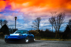 Miata (NamelessPhotographs) Tags: horizon miata mazda slammed static race car drift flares orange yellow blue color colorful bright new 365 miatacrew topmiata sunset sunrise sunshine edit lightroom feature low lowered boost slammedenuff miatagang mx5 lowclasscelica taefrank namelessphotographs