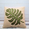"Leaf Applique Cushion • <a style=""font-size:0.8em;"" href=""http://www.flickr.com/photos/29905958@N04/32738607316/"" target=""_blank"">View on Flickr</a>"