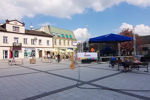 Północno wschodni narożnik rynku w Piasecznie