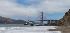 Golden Gate Frmom Baker beach (woozy95) Tags: ocean blue red sky beach clouds golden gate san francisco baker wave birdge