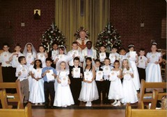 "First communion class • <a style=""font-size:0.8em;"" href=""http://www.flickr.com/photos/133874294@N06/18736440686/"" target=""_blank"">View on Flickr</a>"