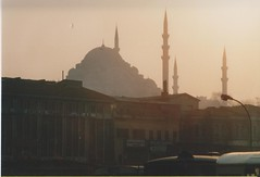 Sunset in Istanbul (redchillihead) Tags: blue sunset smart turkey istanbul mosque traveller greece warren sultan 1989 kiwi 1980s oe ahmet