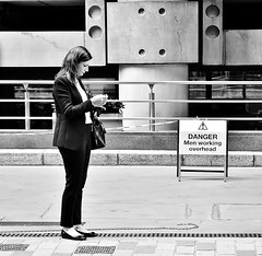 Don't Look Down ! ! (jaykay72) Tags: street uk blackandwhite bw london candid streetphotography limestreet londonist stphotographia