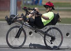 Getting Somewhere_5745 (Mike Head -Jetwashphotos) Tags: canada bike cycling cyclist bc britishcolumbia richmond rider pedalling westerncanada westernregion unusualbike unconventionalbike